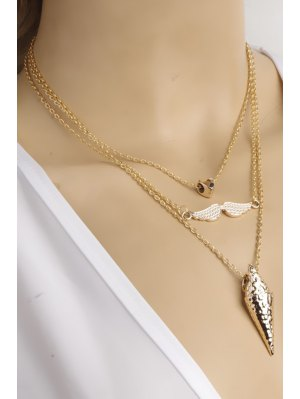 Three Layered Necklace - Golden