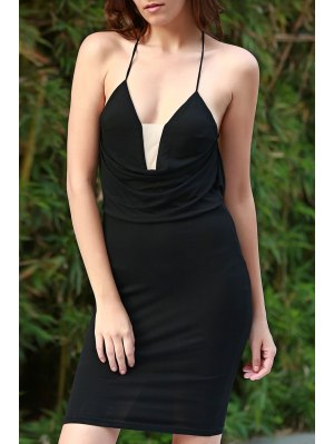 Black Cami Bodycon Dress - Black