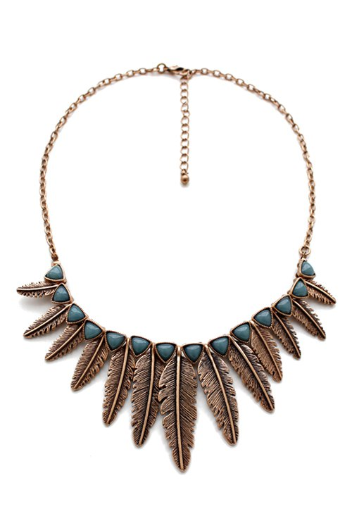 Vintage Leaf Shape Pendant Necklace For Women