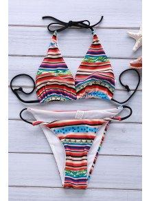 Printed Halter Sexy Bikini Set