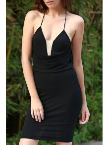 Black Cami Bodycon Dress