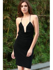 Black Cami Bodycon Dress - BLACK S
