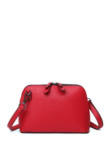 Solid Color Zip Stitching Crossbody Bag