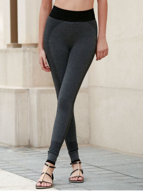 latest Breathable Tight Yoga Pants - DEEP GRAY M Mobile