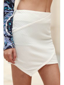 Packet Buttocks Mini Skirt - White L