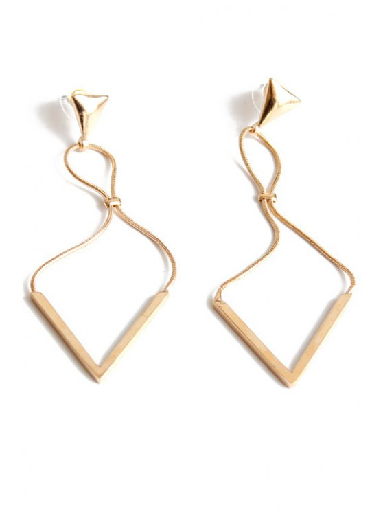 Boucles d'oreilles Chic Triangle - Or