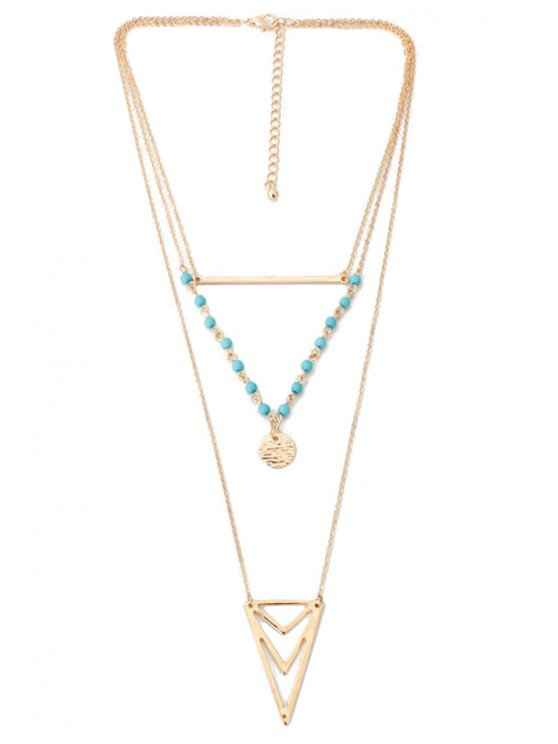 Triangle Multi-Layered Necklace -   Mobile
