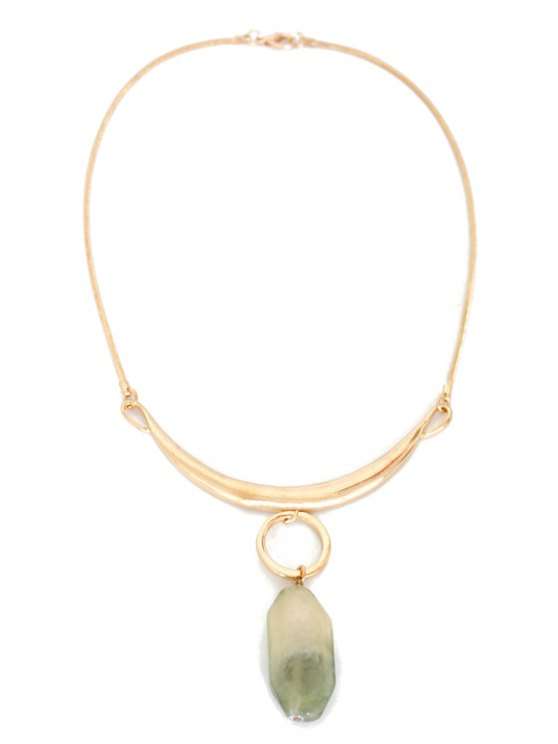 Delicate Alloy Natural Stone Necklace - GOLDEN  Mobile
