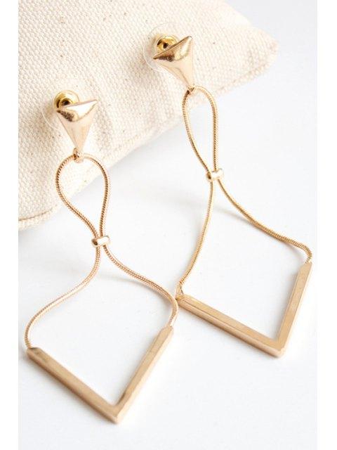 trendy Triangle Drop Earrings - GOLDEN  Mobile