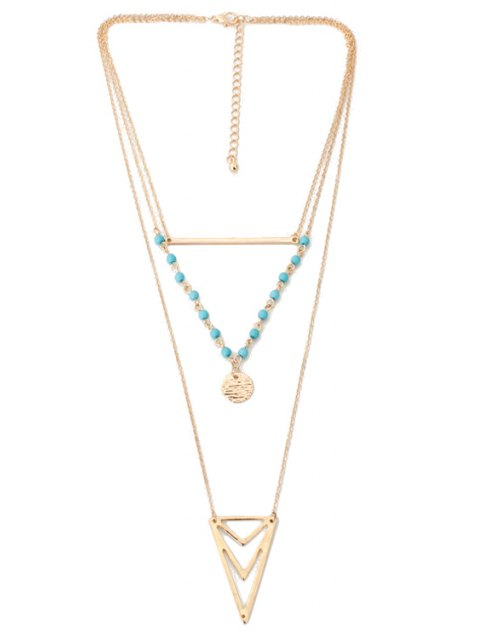 womens Triangle Multi-Layered Necklace -   Mobile