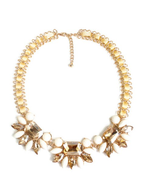 unique Charming Blossom Faux Crystal Necklace -   Mobile