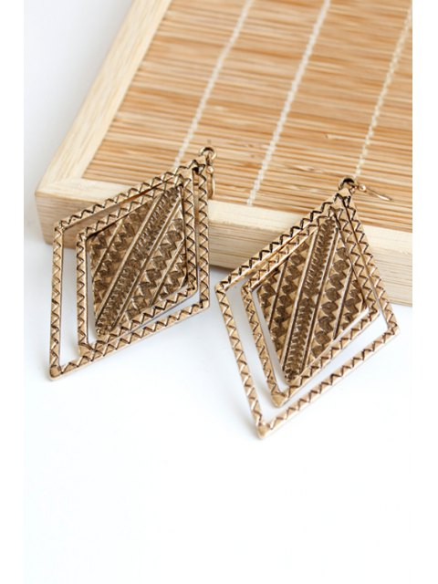 womens Vintage Alloy Carving Earrings - COPPER COLOR  Mobile
