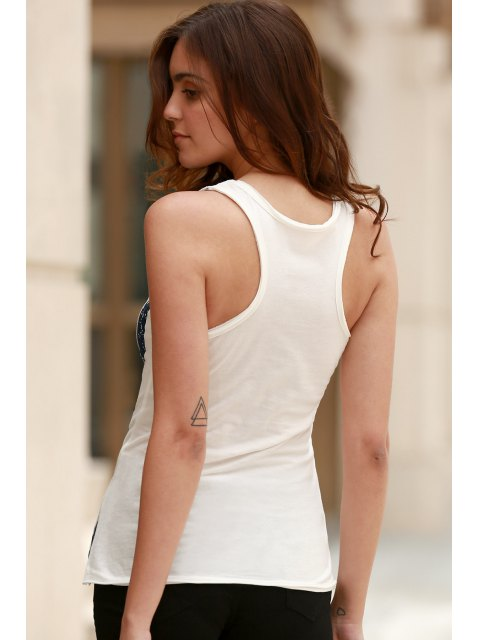 outfits Ombre Star Print Scoop Neck Sleeveless Tank Top - WHITE M Mobile