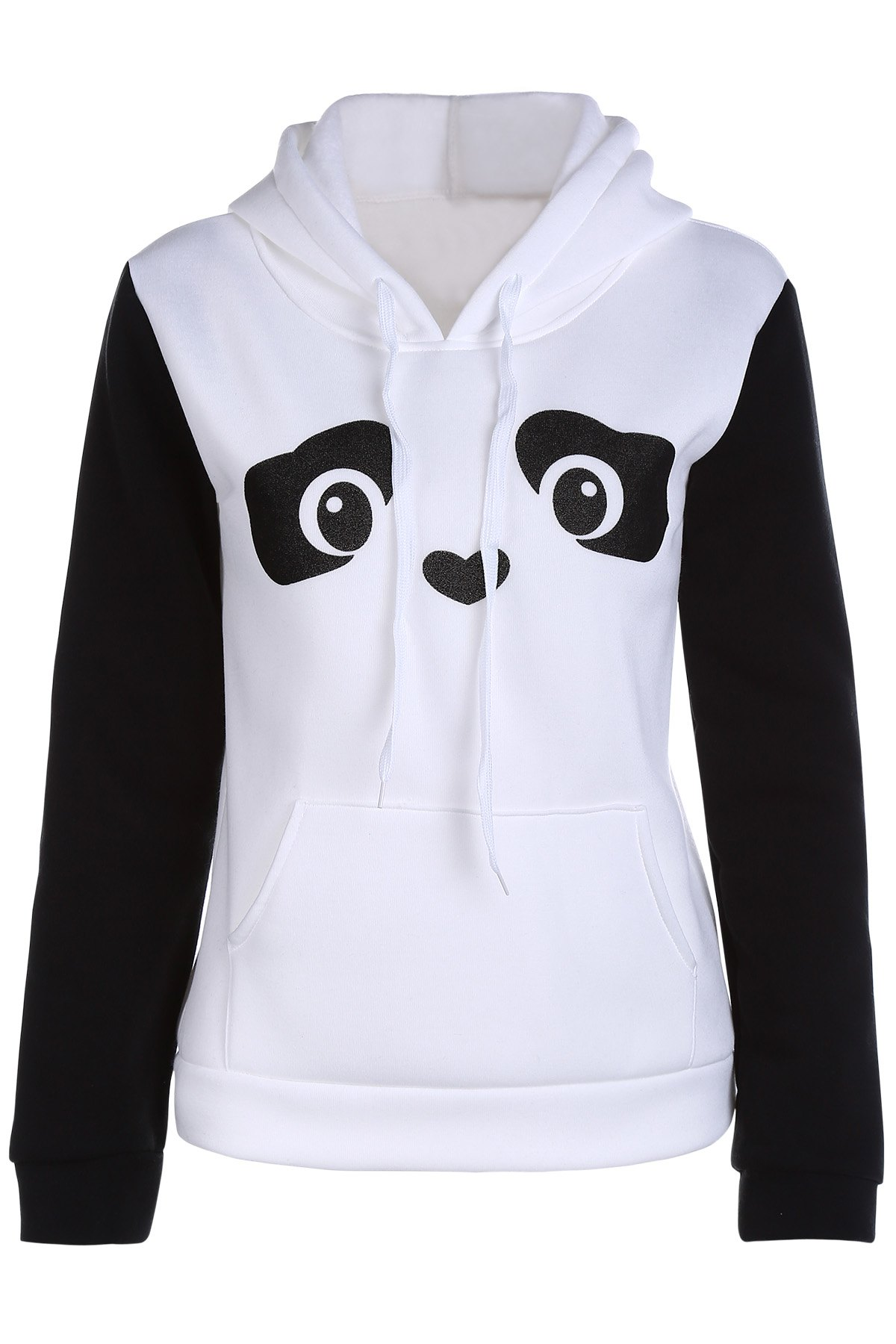 Panda Pattern Hooded Long Sleeve Hoodie