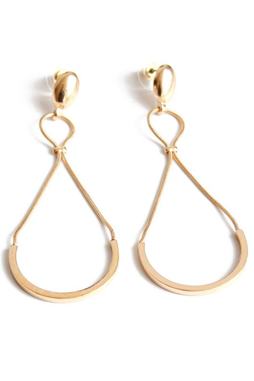 Pair of Chic Semi-Circle Earrings For Women