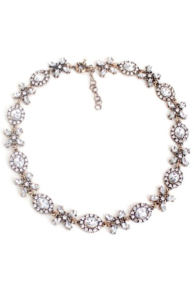 Vintage Floral Faux Crystal Necklace For Women
