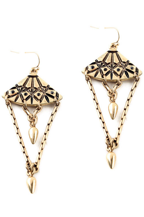 Pair of Vintage Alloy Bullet Drop Earrings For Women
