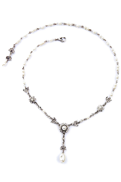 Chic Faux Pearl Decorated Alloy Necklace For Women