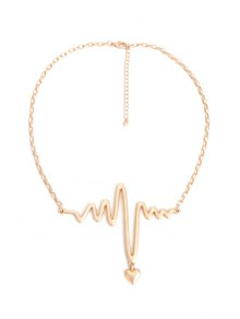 Electrocardiogram Heart Shape Necklace