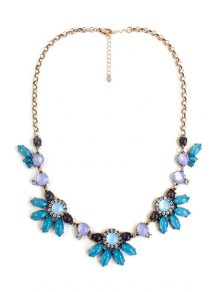floral faux gemstone necklace green necklace zaful