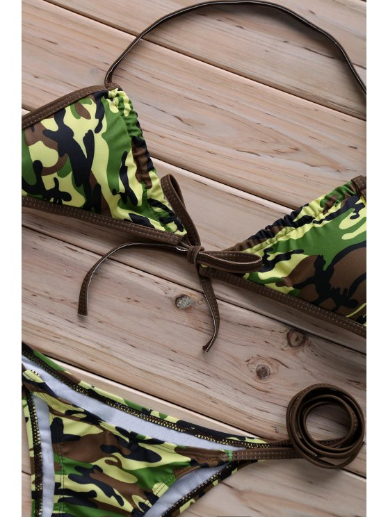Halter Camo   Bikini Set - CAMOUFLAGE L Mobile