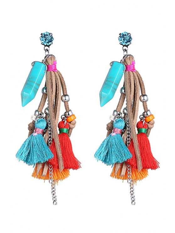 Stylish Colorful Tassel  Earrings - COLORMIX  Mobile