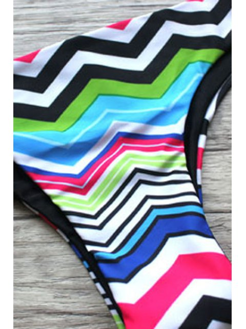 new Zig Zag Print Cami Bikini Set - COLORMIX S Mobile