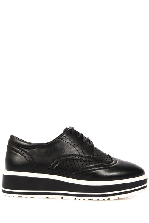 Lace-Up Design Platform Shoes For Women 173795517