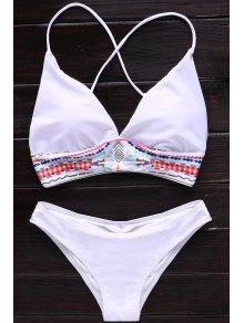 Printed Spaghetti Strap Women Bikini Set