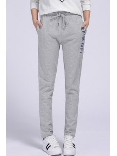Side Letter Graphic Running Pants - Gray Xl