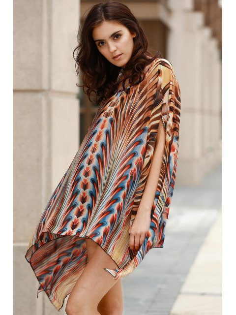 outfits Square Cut Printed Cover-Up - COLORMIX ONE SIZE(FIT SIZE XS TO M) Mobile