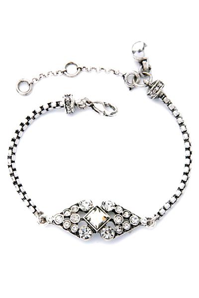 Delicate Rhinestone Rhombus Bracelet