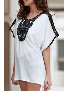 Square Cut Combined Lace T-Shirt