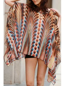 Square Cut Printed Cover-Up