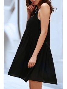 Noir Flared Cami Dress - Noir Xl