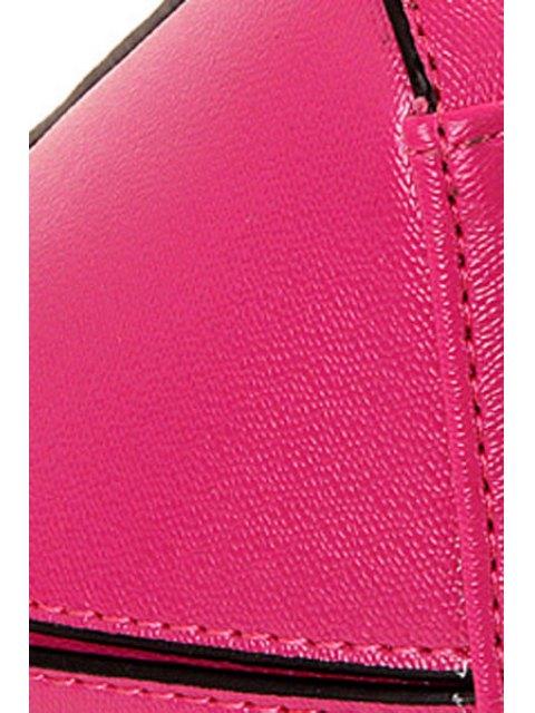 Lettre d'impression couleur unie sac fourre-tout - Rose  Mobile