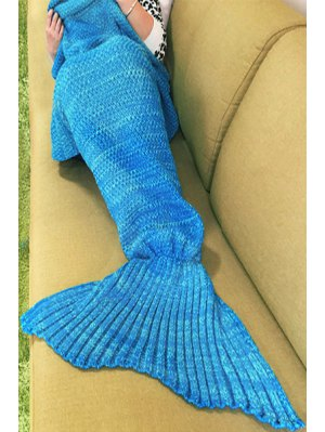 Knitted Sleep Cell Mermaid Blanket