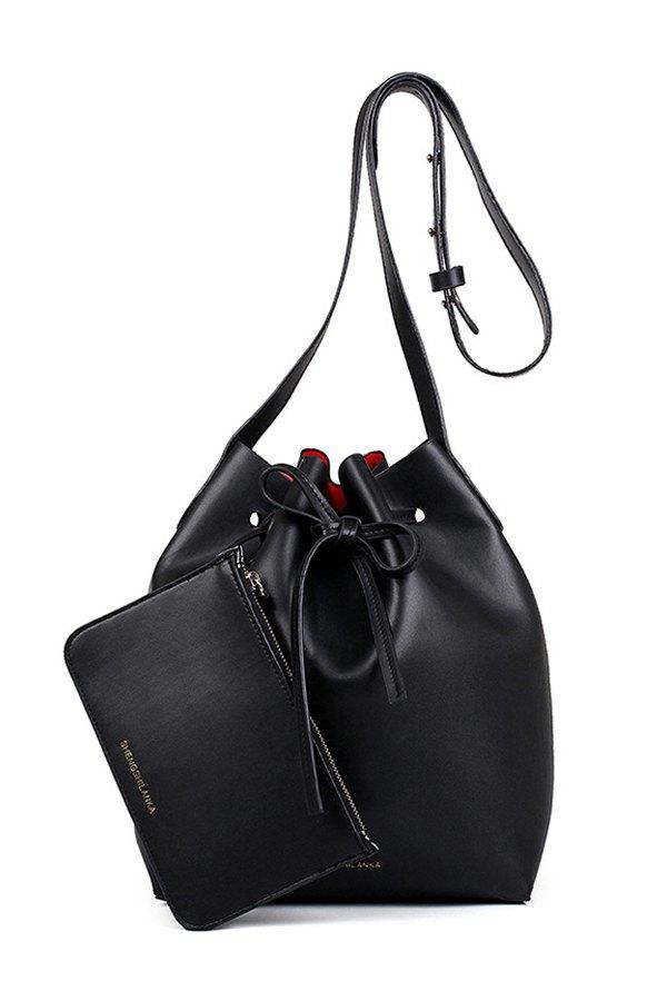 Solid Color Design Crossbody Bag For Women