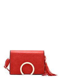 Buy Cover Metallic Tassel Crossbody Bag RED