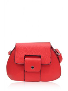 PU Leather Solid Color Crossbody Bag