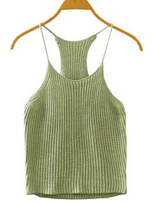 Crocheted Spaghetti Straps Tank Top