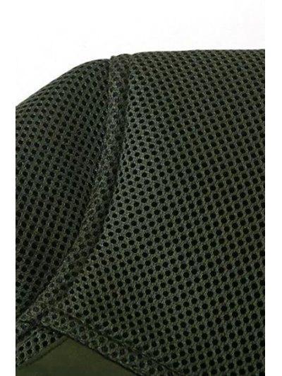 Big Pocket Mesh Design Pilot Jacket - GREEN S Mobile