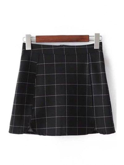 Imprimir A Cuadros De Talle Alto Minifalda - Comprobado