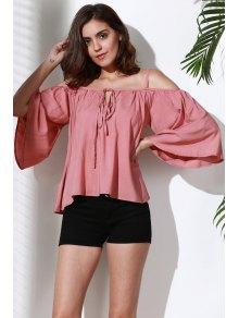 Flare Sleeve Loose Trapeze Top