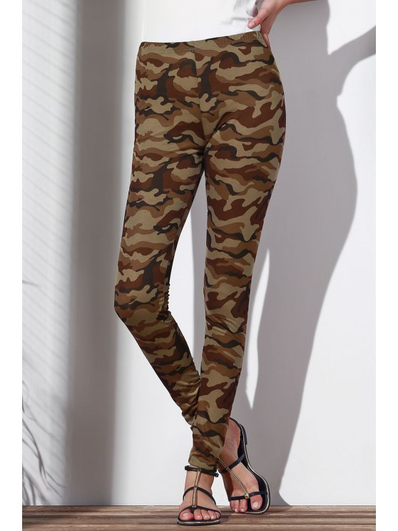 Camoflage Skinny Leggings - ARMY GREEN L Mobile