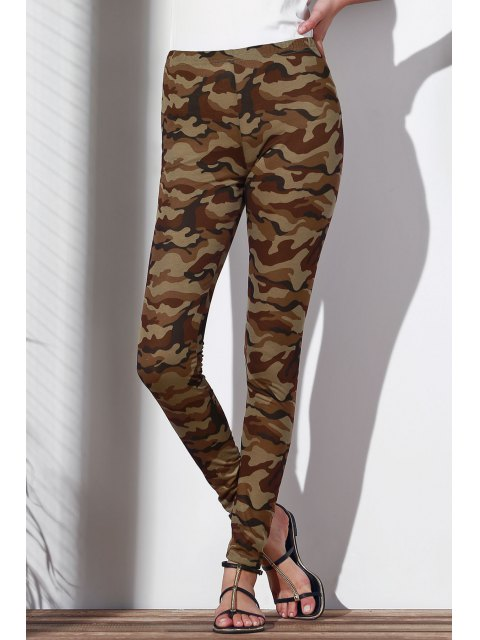 outfits Camoflage Skinny Leggings - ARMY GREEN L Mobile