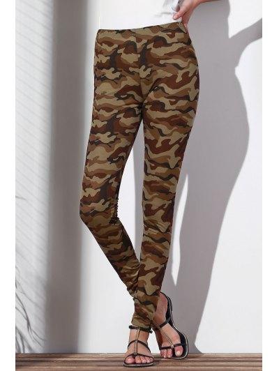 Camoflage Skinny Leggings - ARMY GREEN L Mobile
