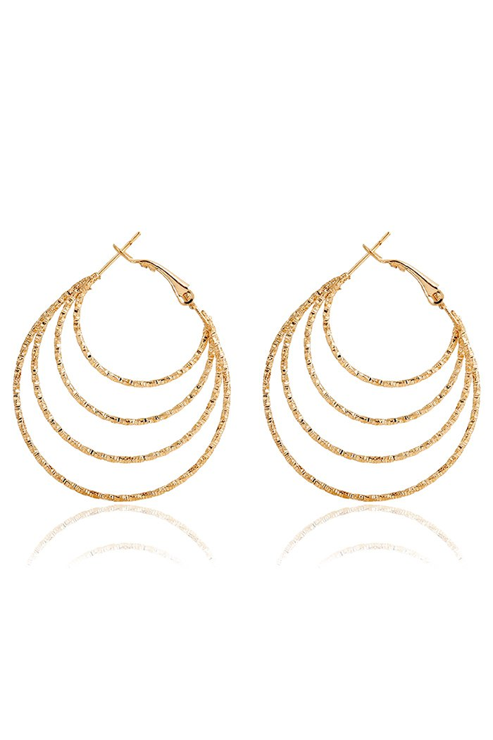 Chic Multi-Layered Hoop Earrings