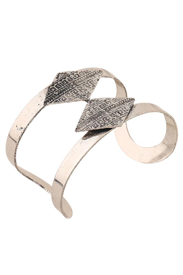 Chic Rhombus Carving Cuff Bracelet