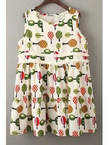 Printed Smock Sundress